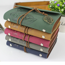 Vintage leather Journal Notebook Retro Craft Paper Spiral Diary Journals Book blank pages binder book caderno stationery gift vintage traveler journal notebook blank diary notepad retro pirate anchor pu leather note book stationery gift planner caderno
