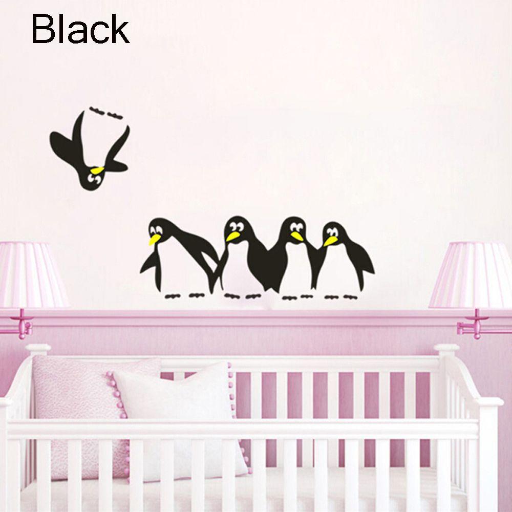 HTB1AkxUQpXXXXbDXpXXq6xXFXXXJ - 1PC Funny Penguin Kitchen Fridge Sticker
