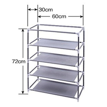 Simple 5-layer shoe rack Waterproof Oxford cloth shoe cabinet Easy shoe rack Multi-storey Household assembly Economical dormitor
