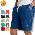 Moda de Verano 2016 Suelta hombres de trajes de baño de Secado rápido Deriva Mens Junta Bermuda Shorts Con Cordón Beach Wear Pocket Plus Tamaño 3XL