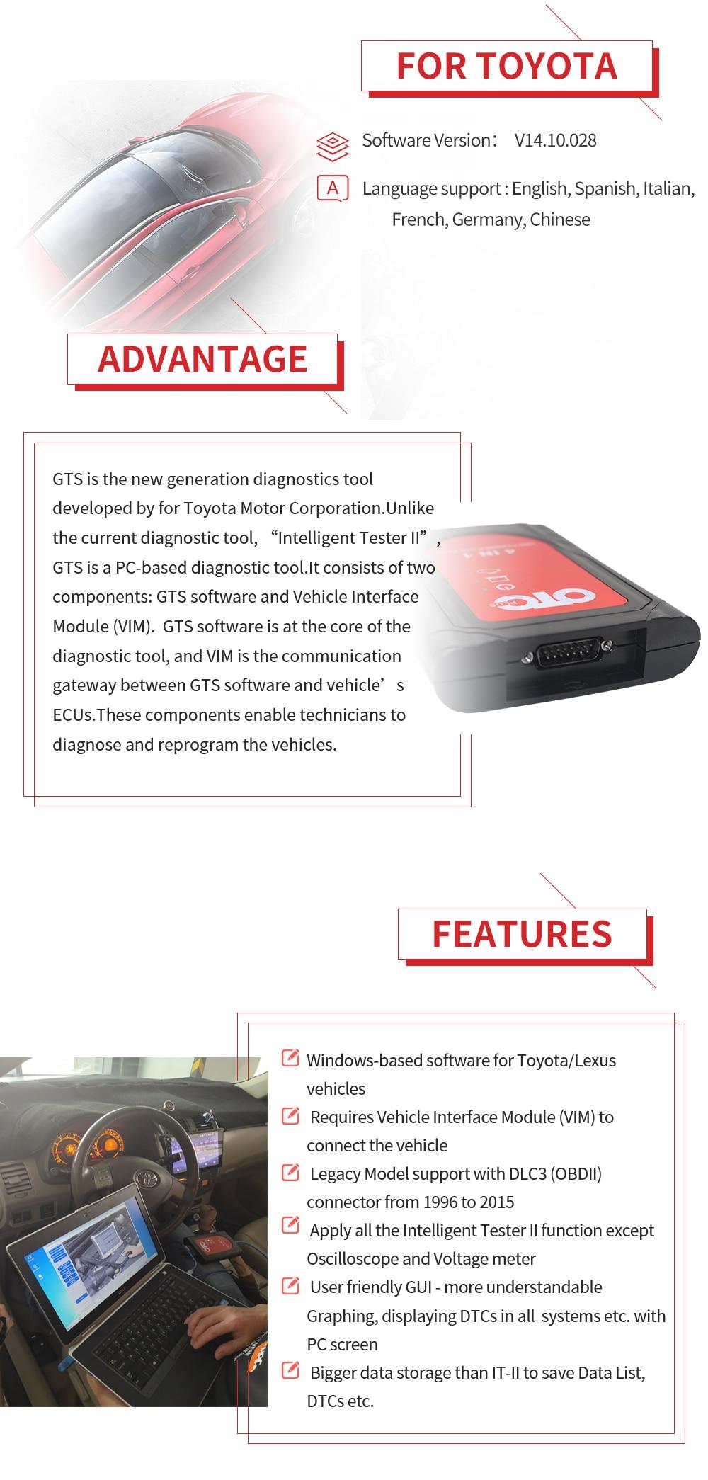 US $64 8 10% OFF|2019 for Toyota OTC Newest OTC Plus 3 in1 V14 10 028 IT3  update it2 Global Techstream GTS OTC VIM OBD Scanner OTC Scanner-in Car