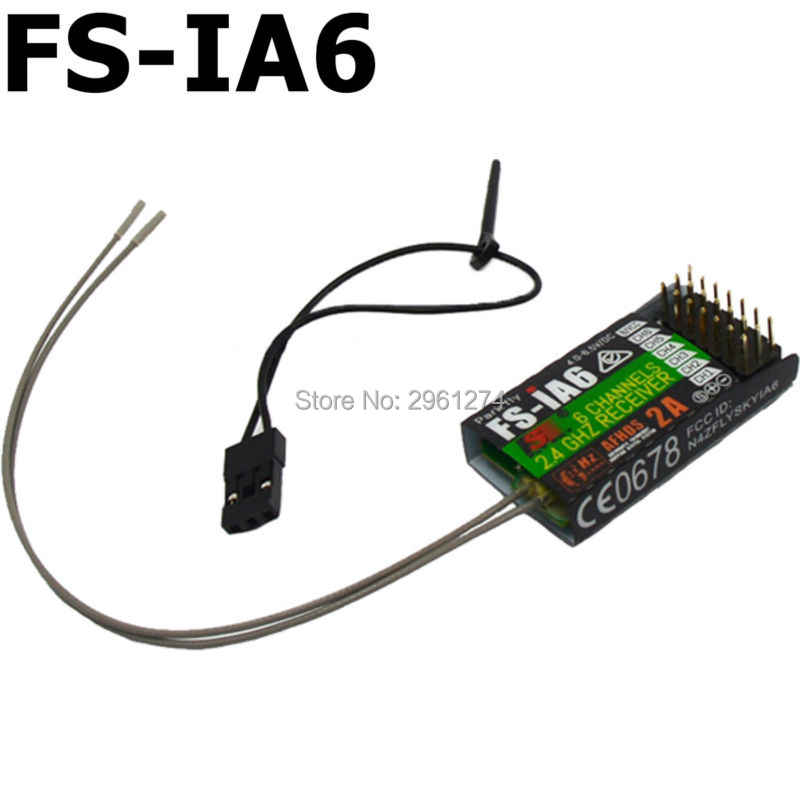 FS-IA6/FS-IA6B/FS-IA10B 6CH 2,4G двойная антенна RC приемник для Flysky FS-I6 FSI6 FS-i4 FS-i6 fs-ia10b
