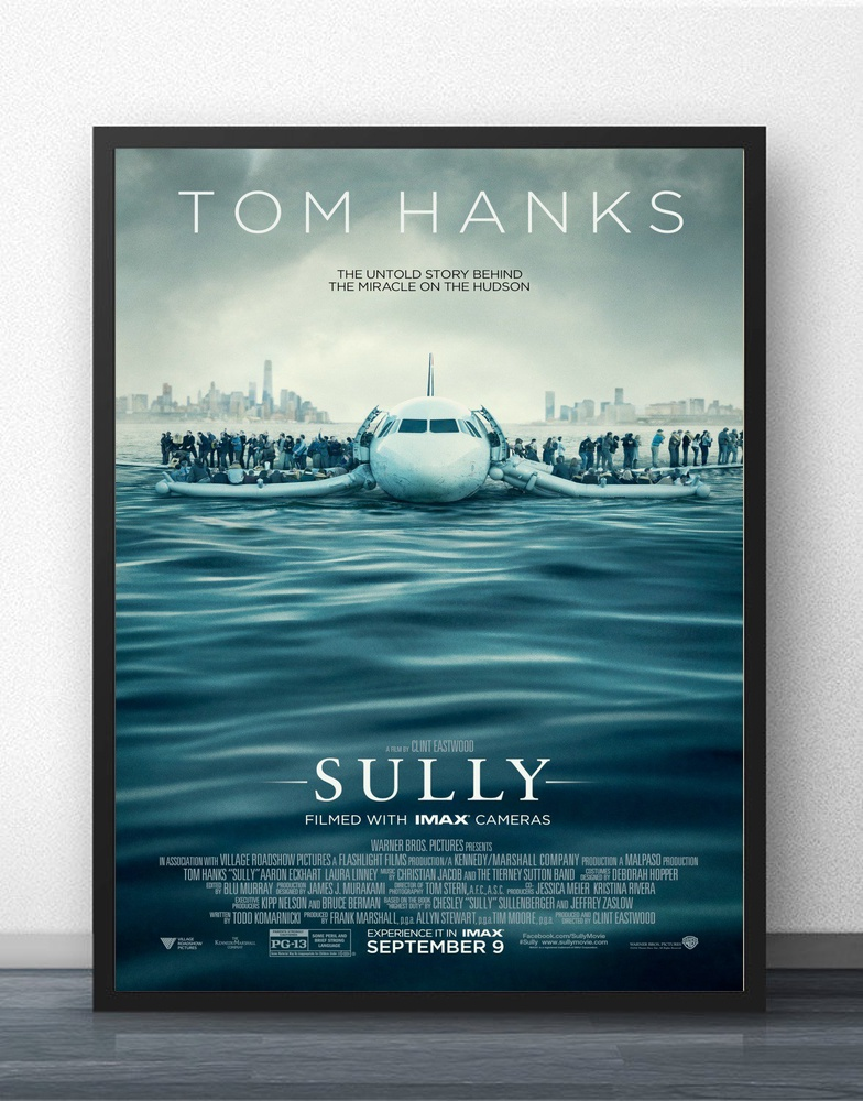 2016 Tom hanks movie Sully Creative Movie Wall Decor Silk Prints Art Poster Paintings for Living Room No Frame image