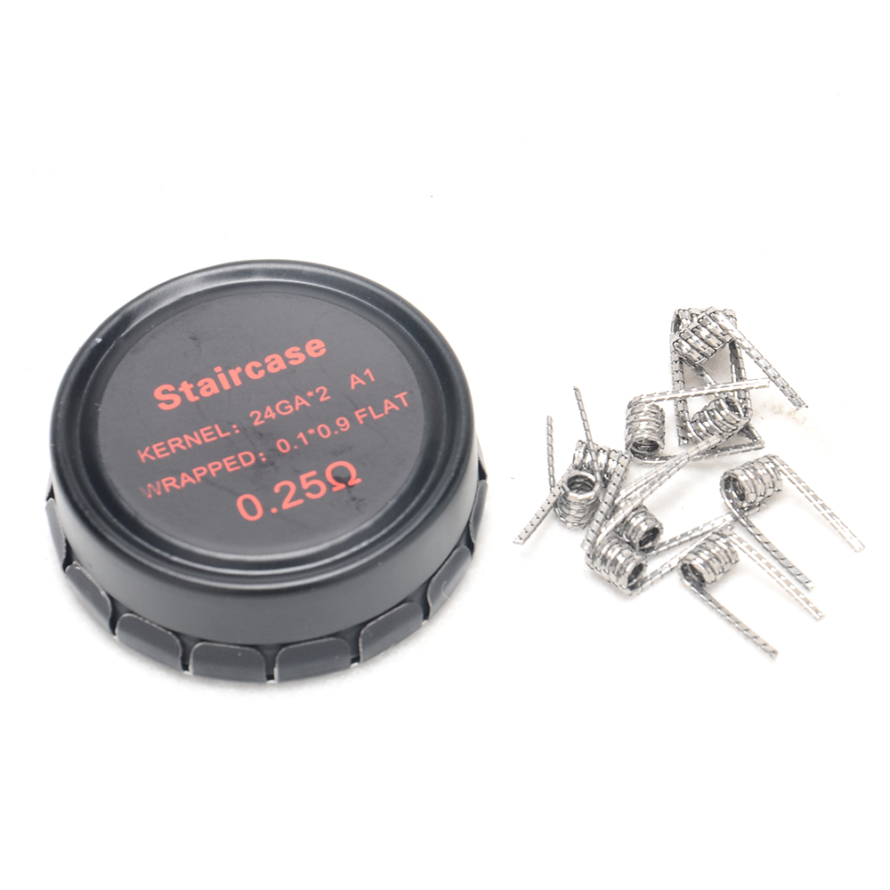hight resolution of original vpdam vpdam 0 1 0 9 flat prebuilt staircase wire 24ga 2 a1 resistance 0 25ohm wire coil for electronic cigarette vaper in electronic cigarette