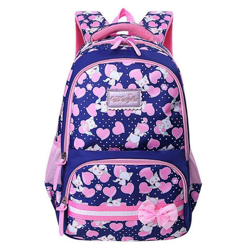 Новые 2018 школьные сумки для девочек Марка Для женщин рюкзак дешевые сумка Оптовая Дети Рюкзаки моды