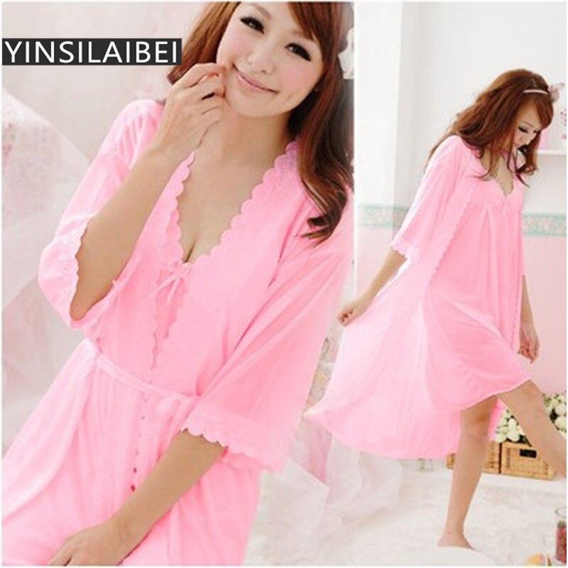 2 Teile/satz Frauen Nachtwäsche Nachtwäsche Sexy Silk Satin Nachthemden Sexy Nacht Schlafkleid Nachthemd Damen Nachthemden Sr002 #35