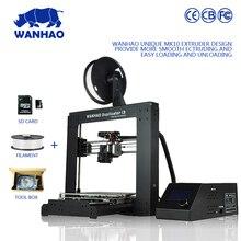 2016 новое прибытие высокая точность столе WANHAO 3D принтер новая версия материнской платы с одного экструдера I3 V2.1 модель