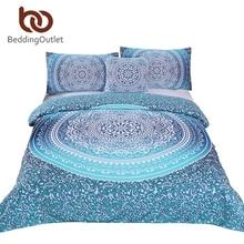 Beddingoutlet Роскошные Boho постельных принадлежностей Кристалл массивы постельное белье супер мягкий пододеяльник богемный постельное белье 4 шт. Лидер продаж