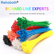 100 pcs 9 color 8*350mm Black Cable sleeve Ties Plastic Zip Tie Self-locking Nylon wire binding wrap straps UL Certified