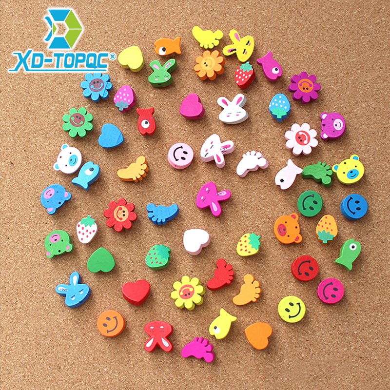 50pcs/lot New Office Thumbtacks Push Pins Colored Map Photos Wooden Pin Board Cork Office&School Supplies Free Shipping