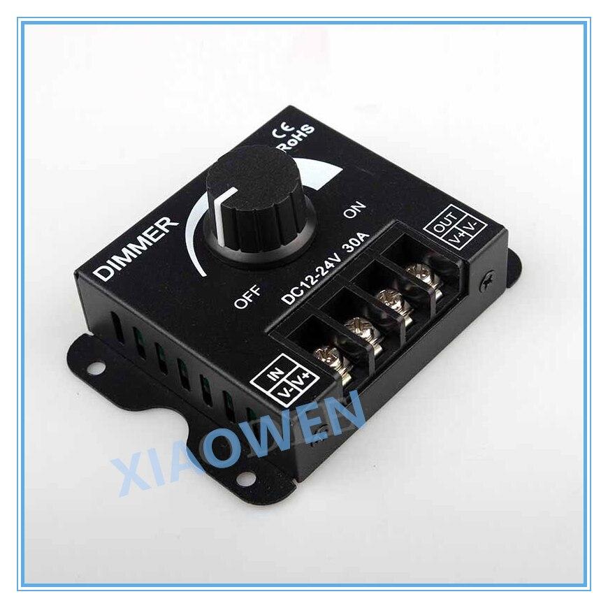 LED Dimmer DC 12V 24V 30A 360W Adjustable Brightness Lamp Bulb Strip Driver Single Color Light