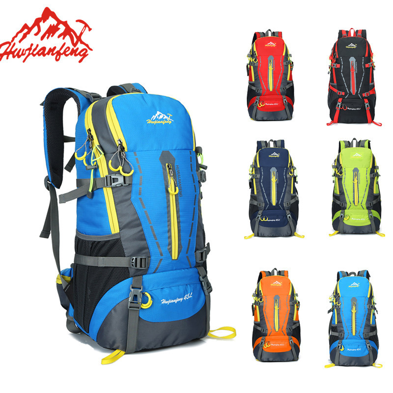 45L Waterproof Women Men Travel Backpack Outdoor Camping Mochilas Climbing Hiking Backpack Bagpack Sport Back Bag