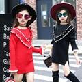 2016 new children sweater girl autumn children V word long sleeved T-shirt kids clothes