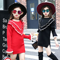 2016 nuevos suéter de los niños de la muchacha niños del otoño V palabra de manga larga T-shirt ropa para niños