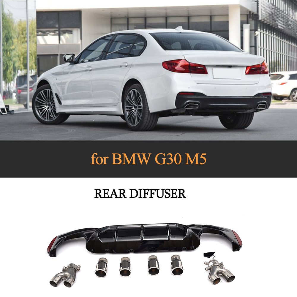 m5 diffuser for bmw g30 g38 m sport 540i sedan 4 door 2018 2019 with [ 1000 x 1000 Pixel ]