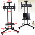 High class universal movable LCD TV stand for 32-60 inch tv with wheels plasma lcd tv articulating arm mount