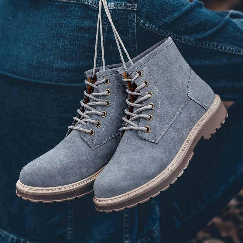 ... Hot 2018 Men Vintage Martins DR Boots Male Motorcycle Military Boot  Fashion Sneakers Working Safety Shoes c70b5ef874cf