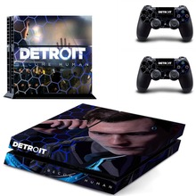 Detroit Become Human PS4 Skin Sticker Decal Vinyl for Sony Playstation 4 Console and 2 Controllers PS4 Skin Sticker