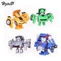 2 UNIDS Nueva Deform Robot Mini Modelo de Deformación de Conjuntos de Juguetes Figuras de Acción Juguetes Del Coche de Luz para Los Niños Regalo de Navidad Del Envío gratis