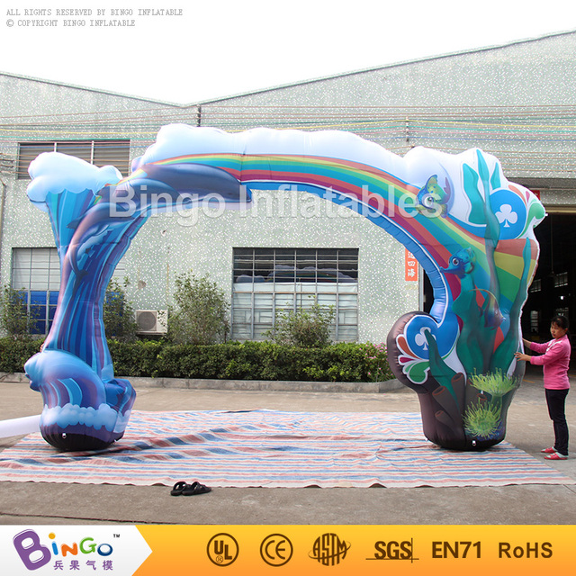 Inflatable marine type printing arch 6m 20ft with free shipping n blower for ocean theme