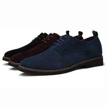Plus Size 45 46 47 48 Men Oxfords Faux Suede Leather Men Casual Shoes Spring Autumn Fashion Oxford Shoes Men 2017 Male BLM-895