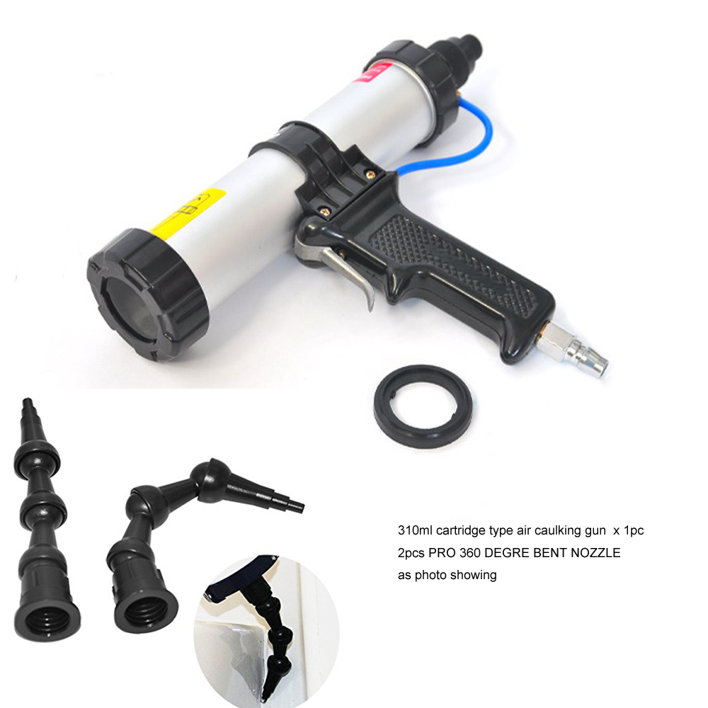 Pro 310ml Cartridge Pneumatic Sealant Gun Air Caulking Gun with Pro 360 Degree Bent Nozzle Bent Rotating Nozzle Cartridge Type new 20pc fold felt sanding dremel accessories for rotary tools