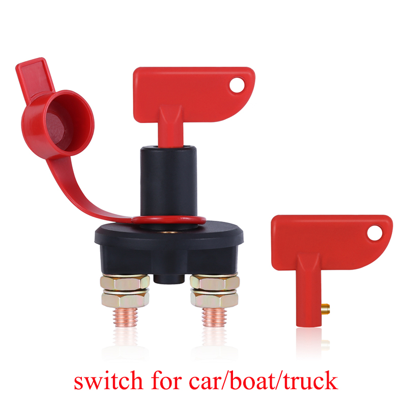 Truck Boat Car Battery Disconnect Switch Power Isolator Cut Off Kill Switch + 2 Removable Keys For Marine ATV Car Accessories (China)