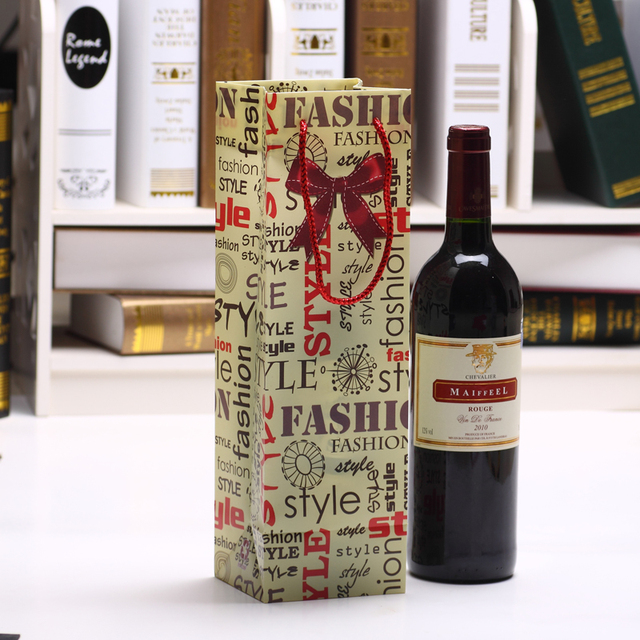 choisir officiel acheter réel aperçu de € 9.12 10% de réduction|4C Imprimé Vin Emballage Sacs 33x10x9 cm Points  Cravate Cravate Écologique matériel PP Corde Jus Cadeau Porte bouteille Pot  De ...