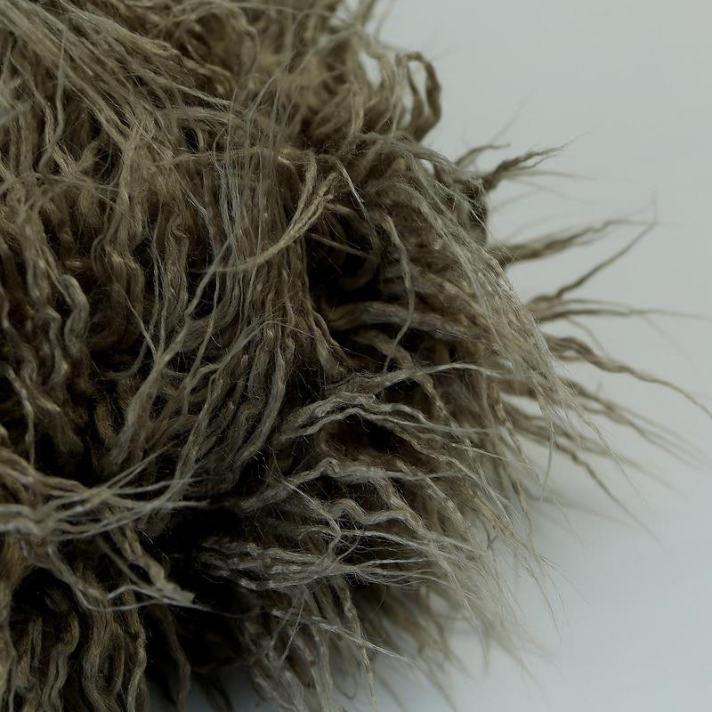 noworodka faux futro koc fotografia rekwizyty do fotografowania tła - Pościel - Zdjęcie 5