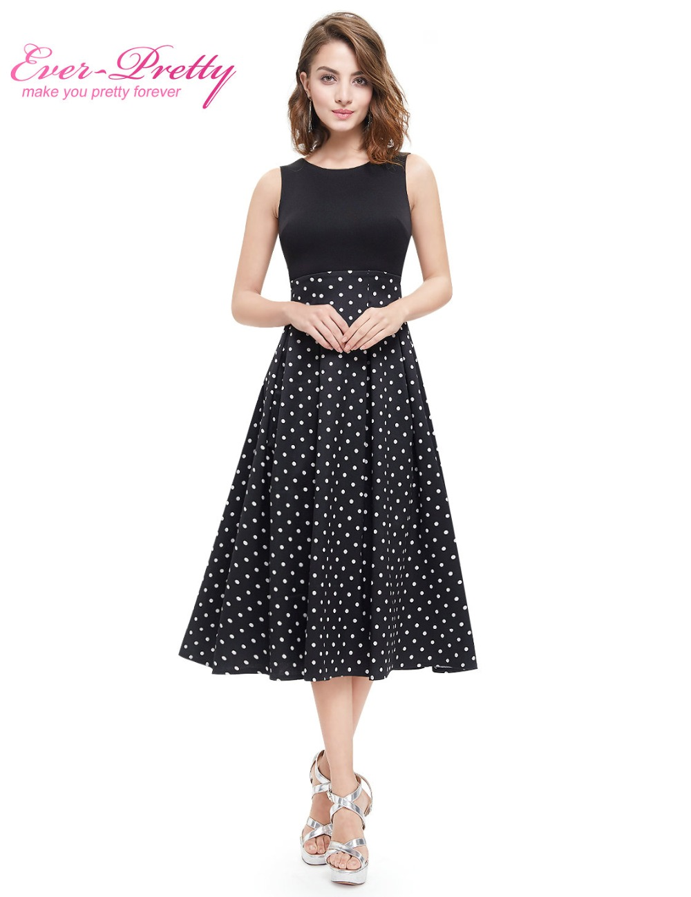 4b0d521f65 Autumn Women Cocktail Party Dress 2018 Ever Pretty EP05432NB Elegant A-Line  Mini Navy Blue Lady Cocktail Dresses Short Dresses