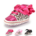 2016 Fashion Leopard Print Baby Sequin Shoes For Toddlers Girls Brand Soft Sole Baby Girl First Walkers Infant Shoes Lace Up