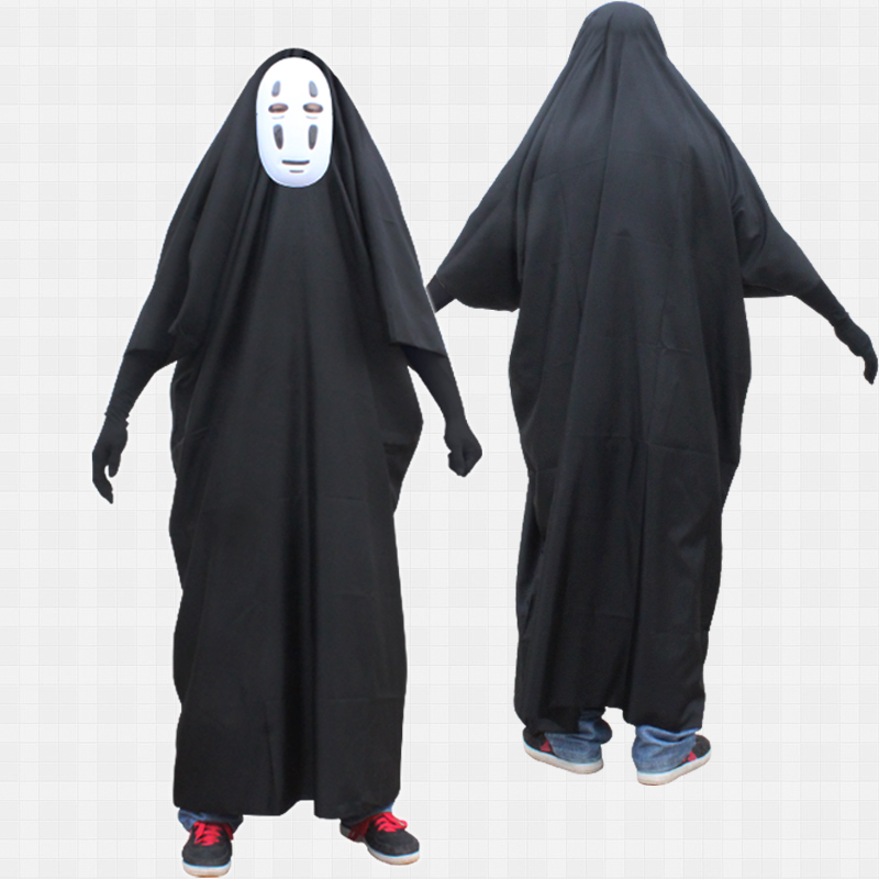 Milky Way Anime Movie Spirited Away No Face Man Miyazaki Hayao Cosplay Costume with Mask gloves for Halloween Costume