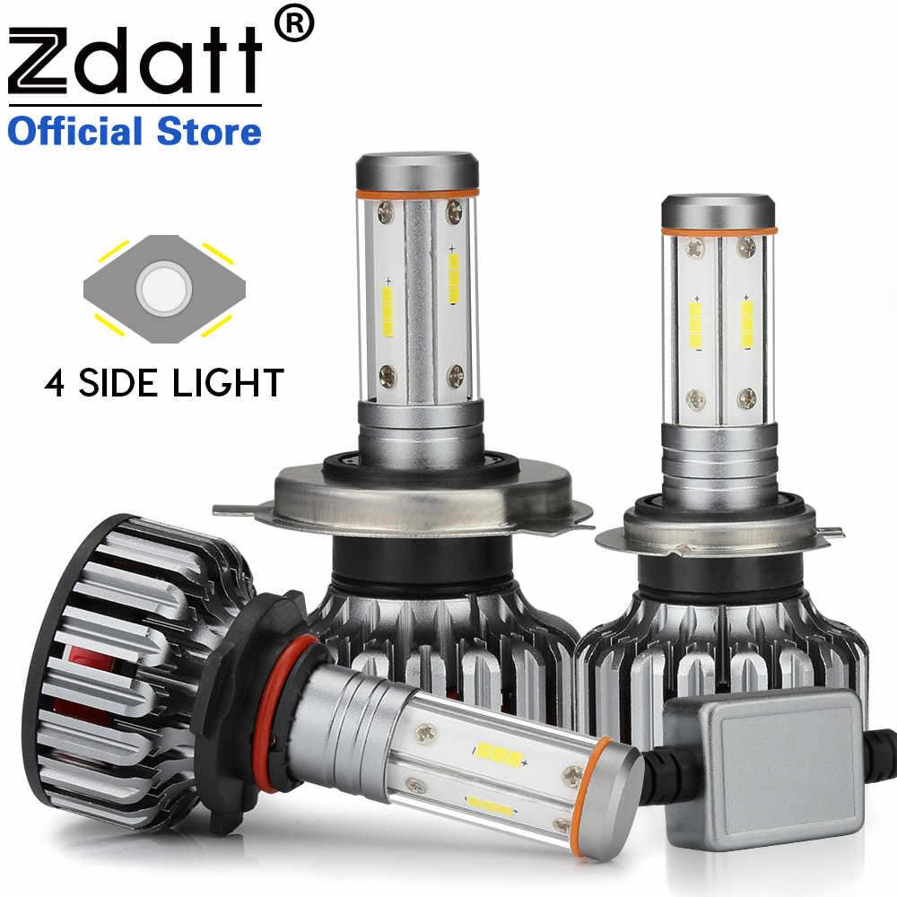 Zdata H7 светодиодный фары H4 H11 лампы для автомобилей 12 В ходовые огни 9005 9006 100 Вт 12000Lm Canbus 3000K 4300k 6000K 8000K k противотуманные фары