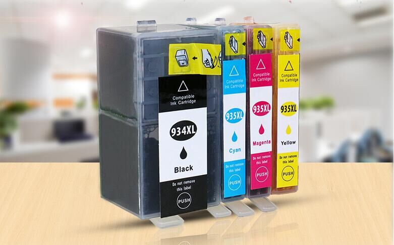 XIMO 5 Pack Ink Cartridge Replacement for HP 934XL 935 XL Officejet pro 6230 with chips and full ink ready to use in Ink Cartridges from Computer Office