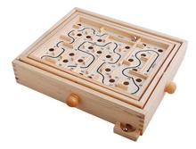 Fly AC Labyrinth Wooden Pinball Toy Maze Game education toys for children Birthday Gift