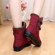 Winter Women Snow Boots Ladies Waterproof Warm Casual Ankle Boots Wedges Platform Shoes Female Botas Mujer Zapatos Black Shoes стоимость