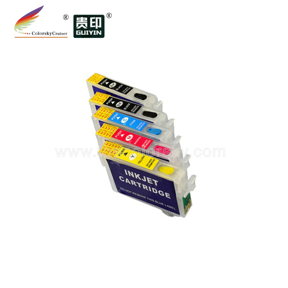 RCE-1151-734N) 4 комплекта многоразовый картридж для Epson 1151 115 73N Stylus Office T33 k/c/m/y