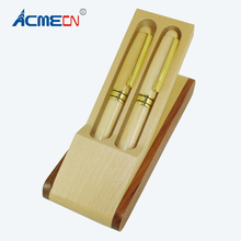 ACMECN Natural Maple Ball Pen and Fountain Sets Luxury Gift Wooden Environmental Traditional Chinese Hand Made Office Supplies