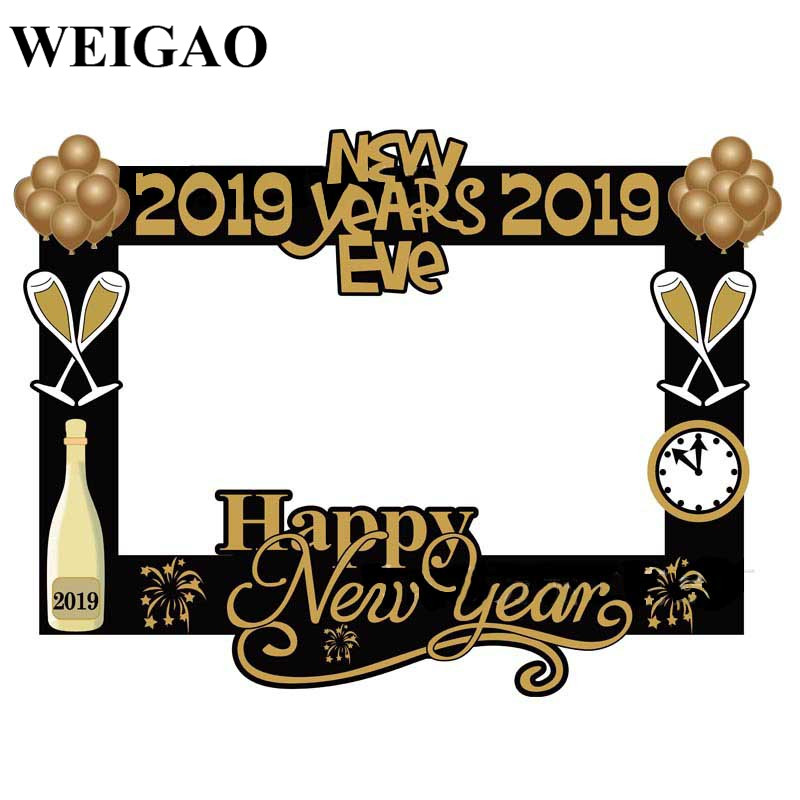 WEIGAO Happy New Years Eve 2019 Photo Frame Props New Year ...