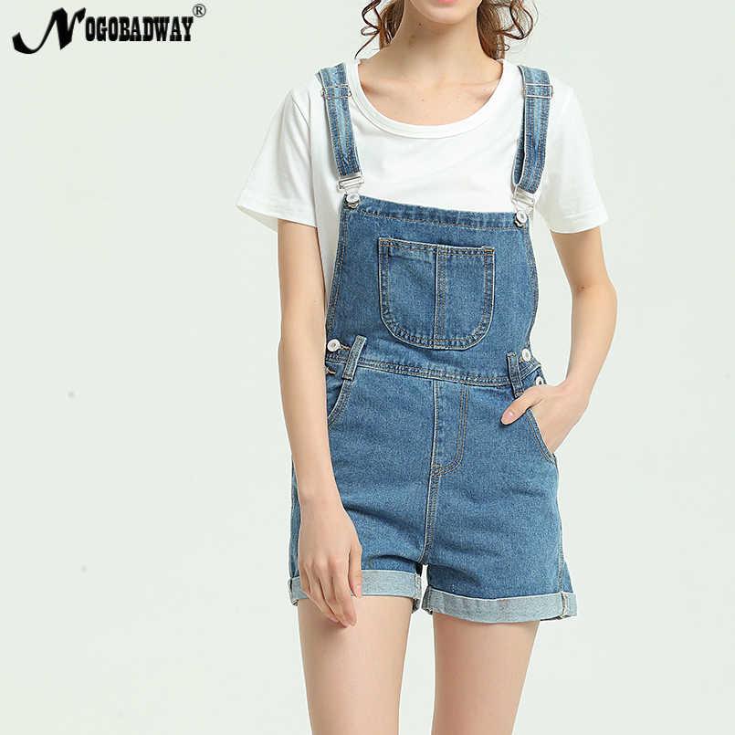 82ed8d22d5f ... 2018 New Summer Short Denim Jumpsuit Women Casual Jeans Romper Playsuits  Fashion Bandage Dungarees Overalls Shorts ...