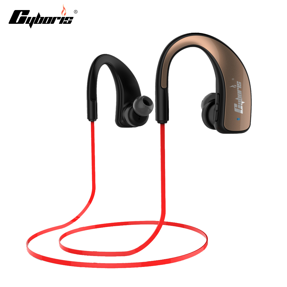 Cyboris Bluetooth Headset Earphone Sport Wireless HIFI Earphones Music Stereo Headphone Studio Music with Mic For IOS & android qcy qy7 wireless bluetooth 4 1 stereo sport earphone headphone studio music headset with mic black green