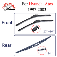 Wiper BladesFor Hyundai Atos 1997 2003 Windscreen Rubber Rain Window Front And Rear Wipers Car Accessories