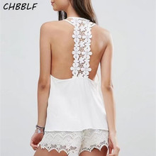 Summer New European Lace Blouse Sexy Top White Short Top Xsw1727