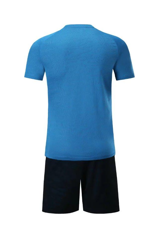 Men short sleeve 2018/19color size tracking Purple kits jersey adult soccer football suit Sky blue Ventilation Football Jersey