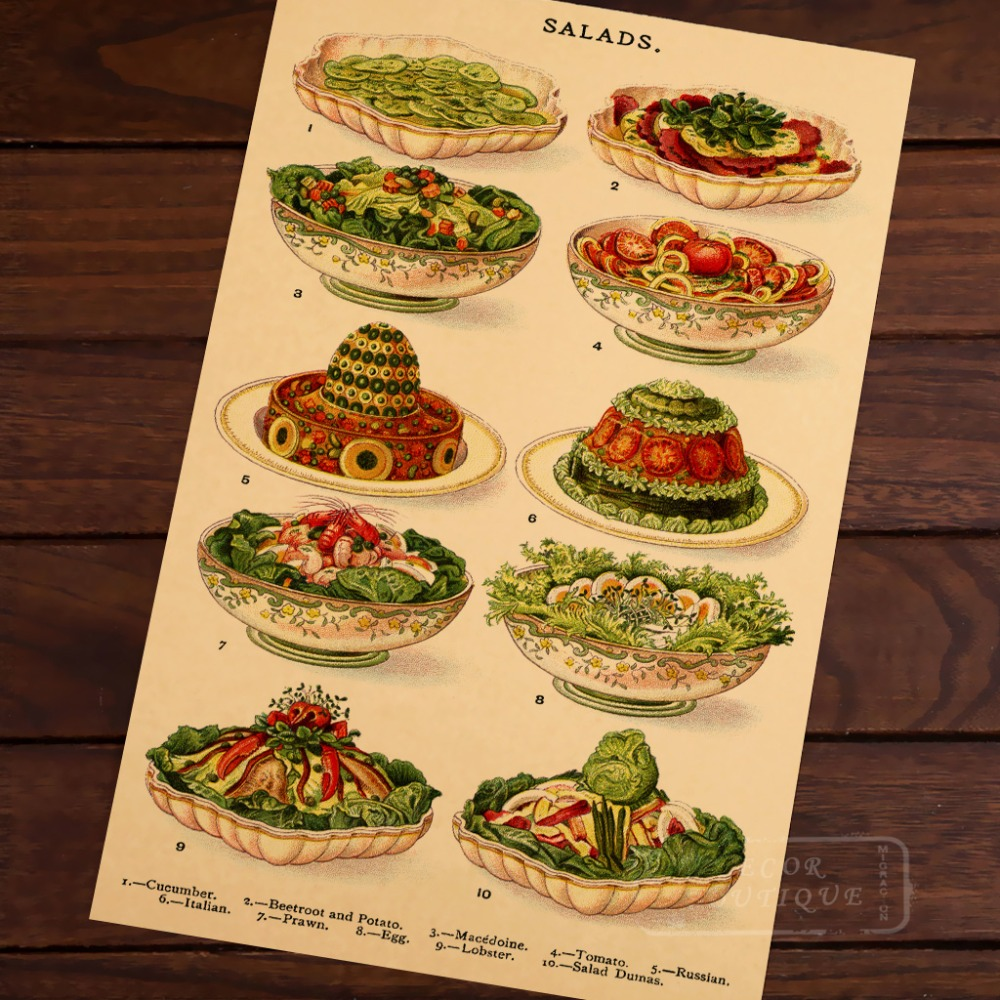 Jellies Creams And Sweet Dishes Restaurant Ad Vintage Classic Retro Canvas Poster DIY Wall Stickers Posters Home Decor Gift In From