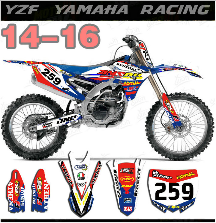 Motorcycle Bike Graphics Stickers Background Decals For Yamaha