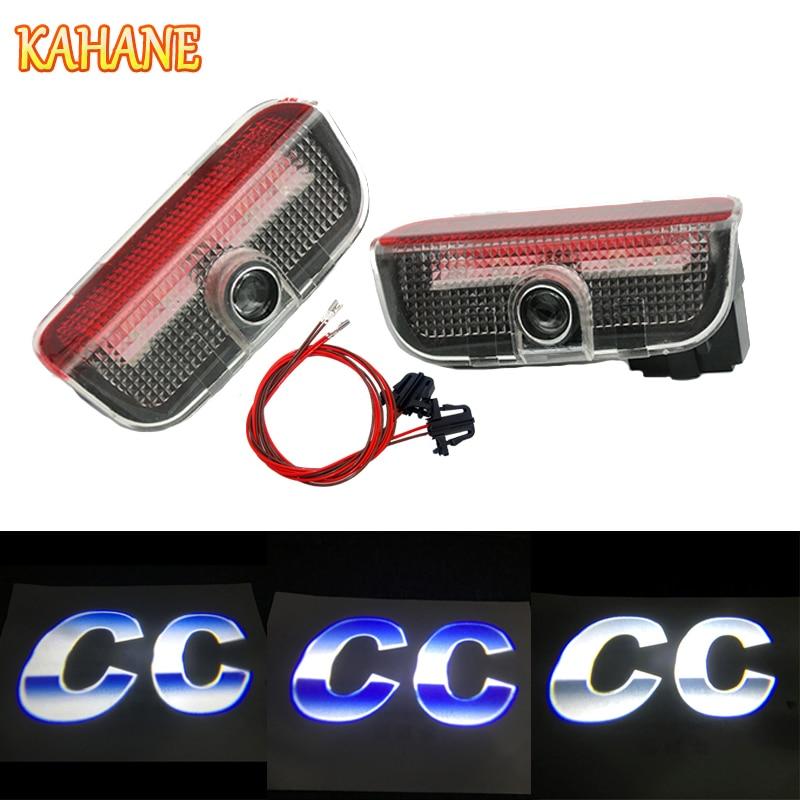 KAHANE 2pcs LED Car Door Projector Courtesy Laser Light FOR VW Passat B5 B6 B7 Golf 5 6 7 GTI Touran Jetta MK5 MK6 CC Scirocco