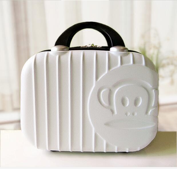 Косметический случай Корейской KT чемодан 14-дюймовый сумки коробка для хранения Макияж Профессиональный Хранения Мешок Красоты