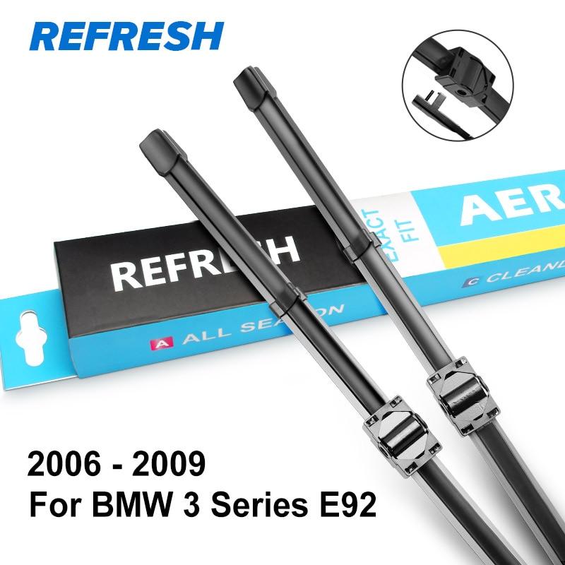 REFRESH Щетки стеклоочистителя для BMW 3 серии E46 E90 E91 E92 E93 F30 F31 F34 316i 318i 320i 323i 325i 328i 330i 335i 318d 320d 330d - Цвет: 2006 - 2009 ( E92 )
