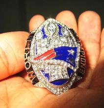 Прямая доставка! Новейшие 2017 новинка 2016 года England Patriots Super Bowl 51th Чемпионат кольцо kraft Брэди деревянный ящик мужчины вентилятор подарок